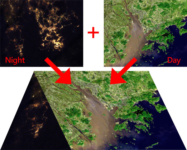 Hong Kong and Its Environs - Day and Night